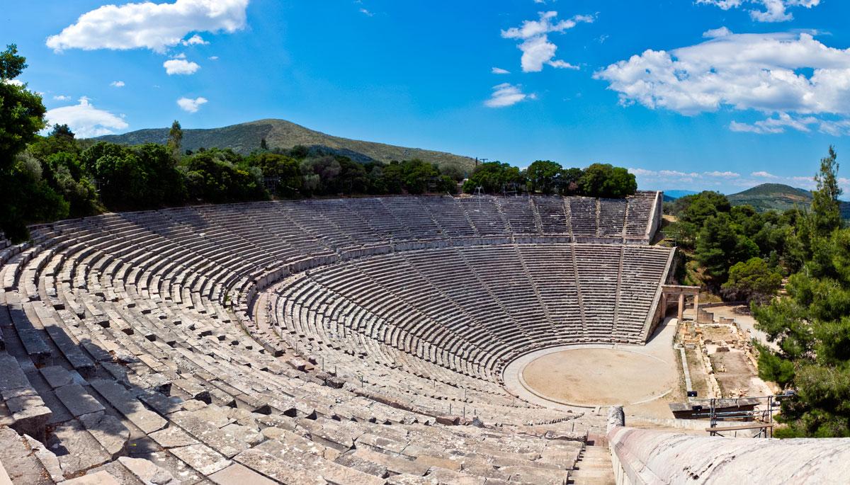 Ancient Greek theatre - Sails on Kos