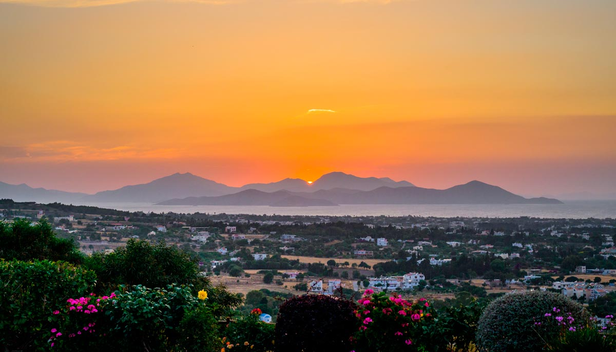 Sunset with panoramic views - Kos island