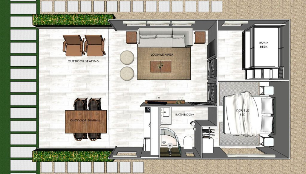 Safari Villa Tents - Floor plan