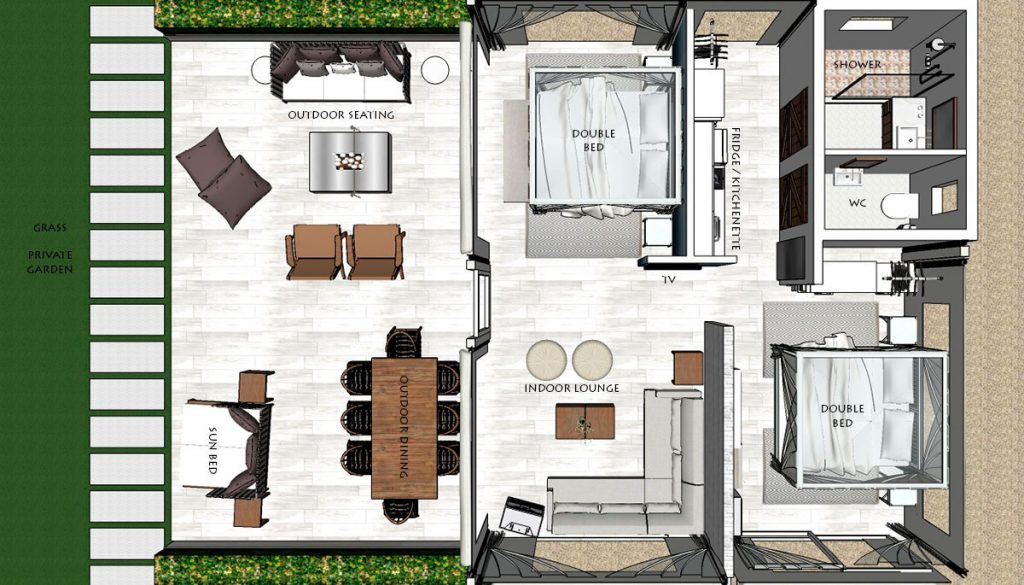 Tented Lodges - Floor plan