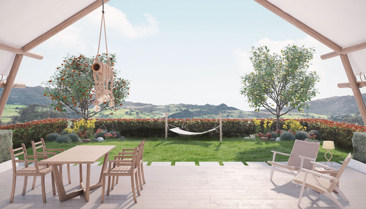 Glamping tents - Garden